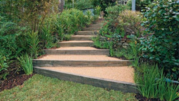 Rise Above That Slippery Slope In Your Garden By Installing This Charming,  Easy To Build Staircase.