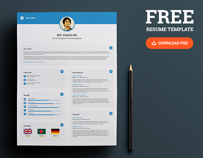 We Are Presenting Another Freebie This Time Resume With Business