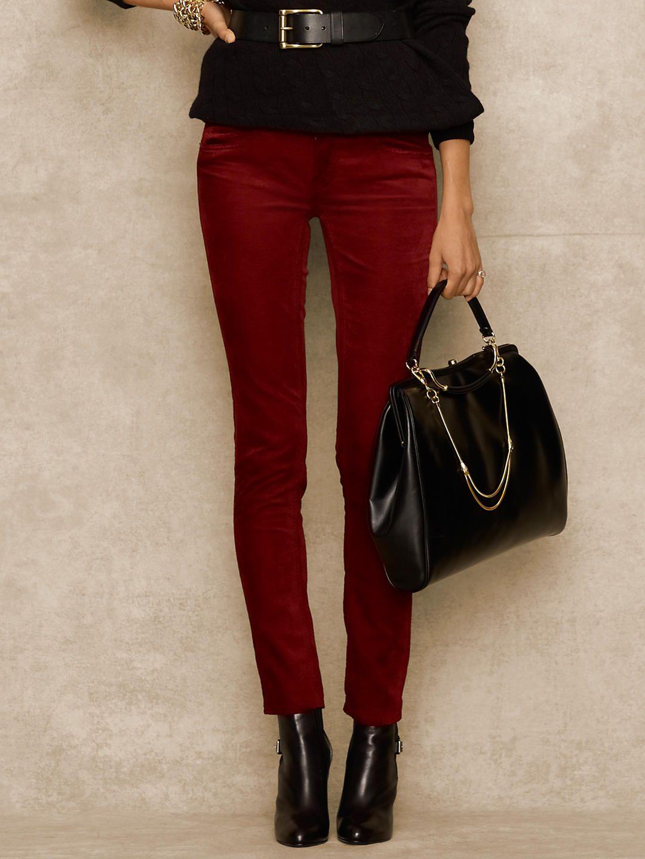 Skinny Velvet Pant - Denim  Pants & Shorts - RalphLauren.com, 3--