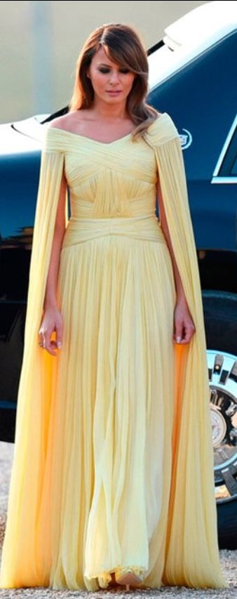 Melania Trump Yellow Gown July 2018 Britain Trump Yellow Gown
