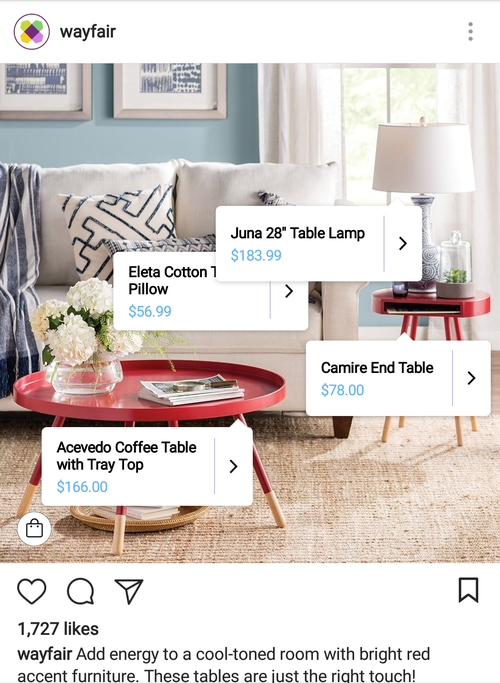 Image result for instagram wayfair image