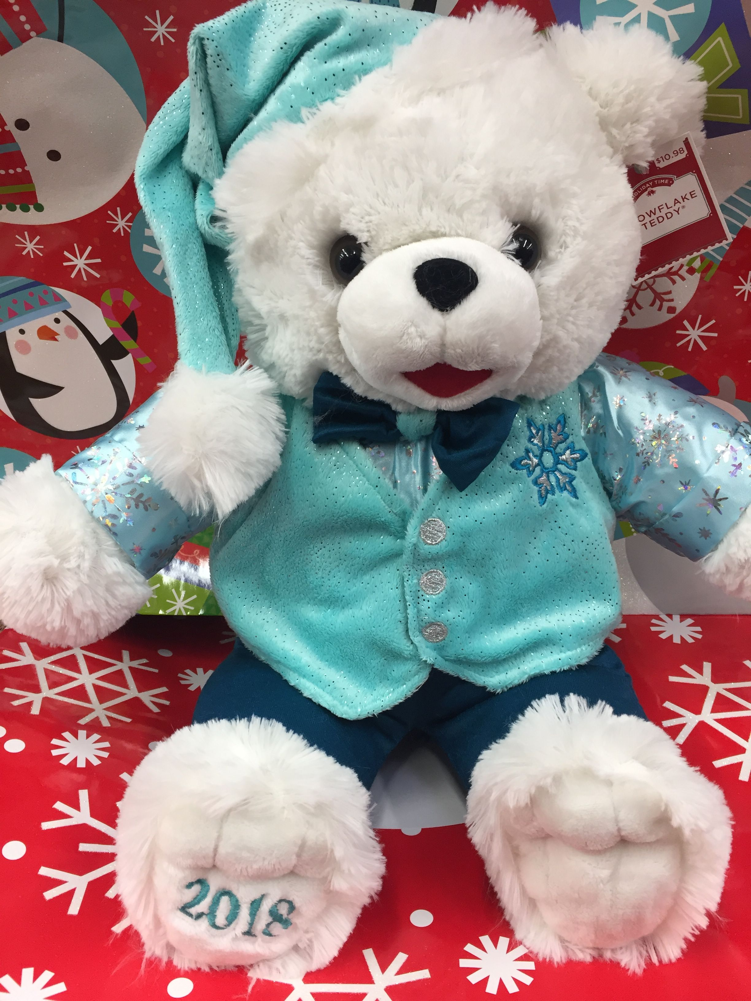 2018 DanDee Walmart Snowflake Teddy Hello kitty plush