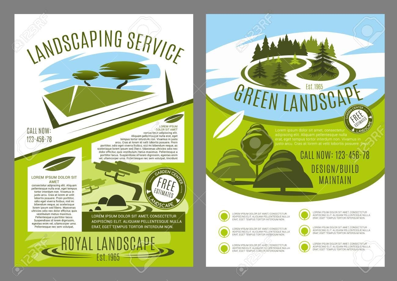 Landscape service company business poster for landscaping and gardening template  Landscape service company business poster for landscaping and gardening template Landsca...