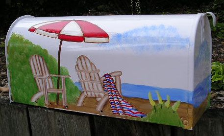 hand painted mailbox designs. Hand Painted Mailbox Designs