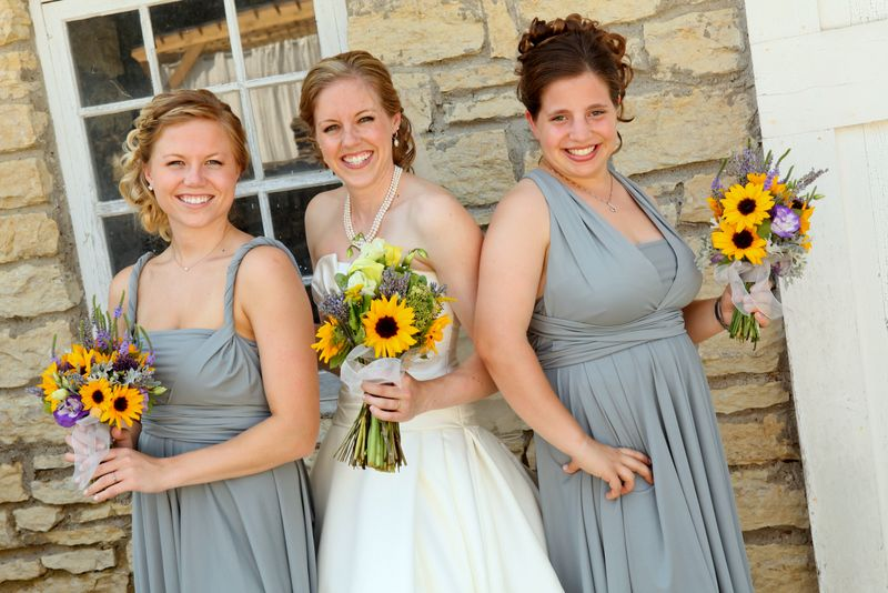 grey bridesmaids dresses The Radical Thread Company