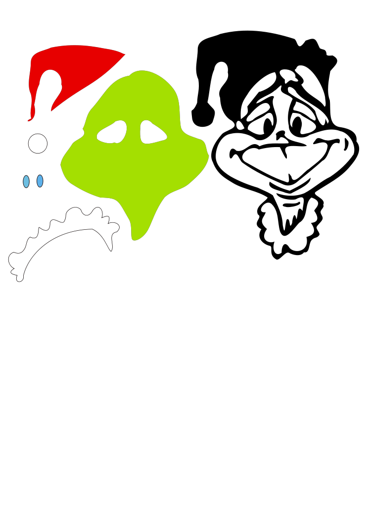 Free Grinch Svg File : grinch, Grinch, Cely.svg, Shared, Free,, Silhouette, Cameo, Projects