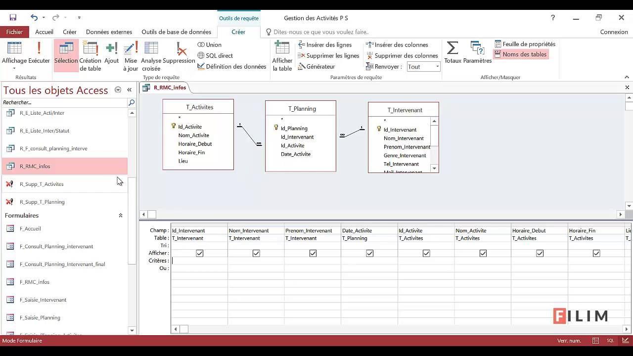 Access Formulaire De Recherche Multi Criteres Formulaire Gestion Fiches