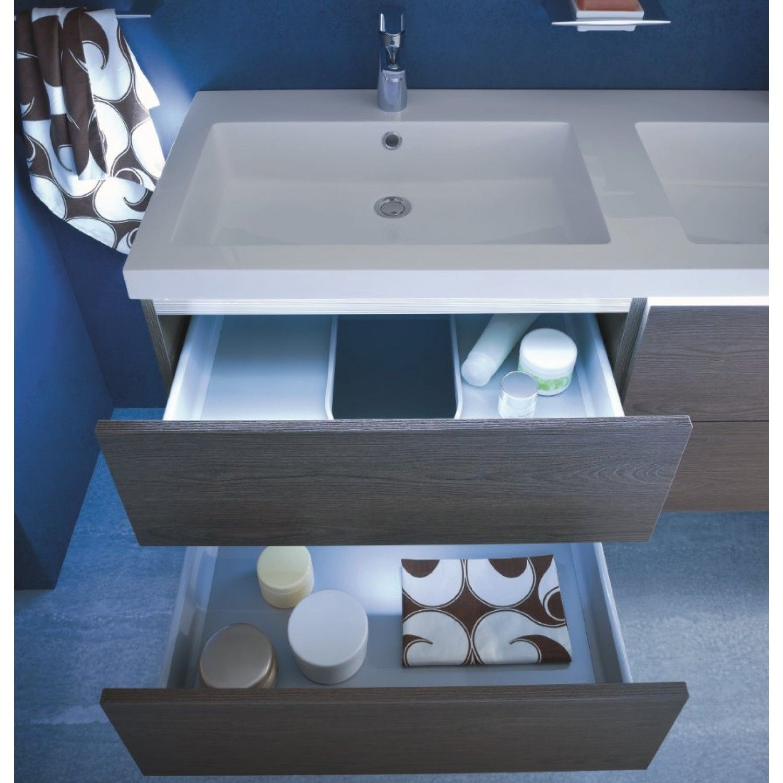 Mobile bagno con doppio lavabo N18 Atlantic - finitura nobilitato ...