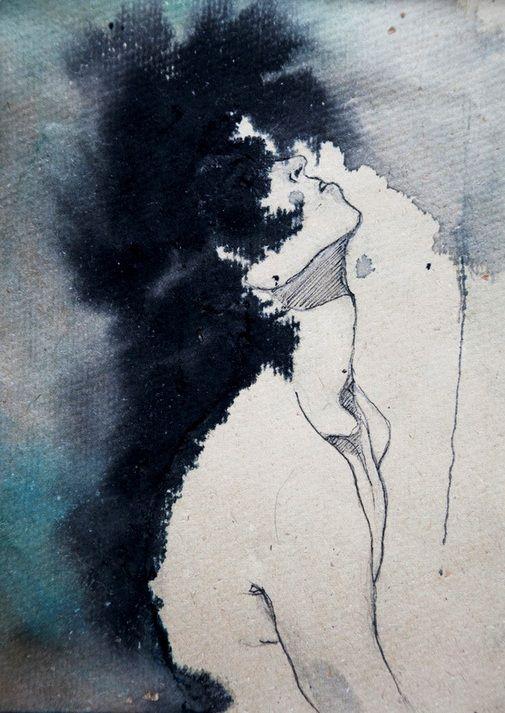 Kamilla Lucarelli. (Ink  watercolour, 2012).
