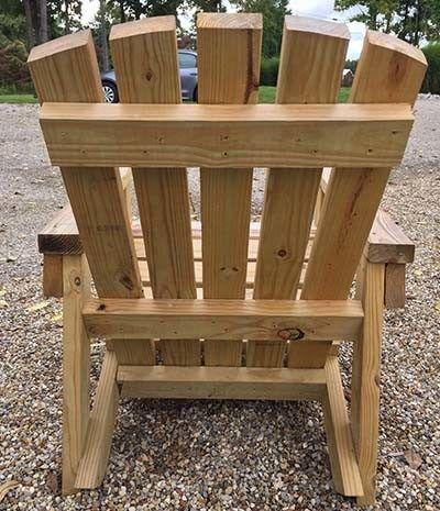 2X4 Diy Adirondack Chair Perfect For The Patio Backyard 640 x 480