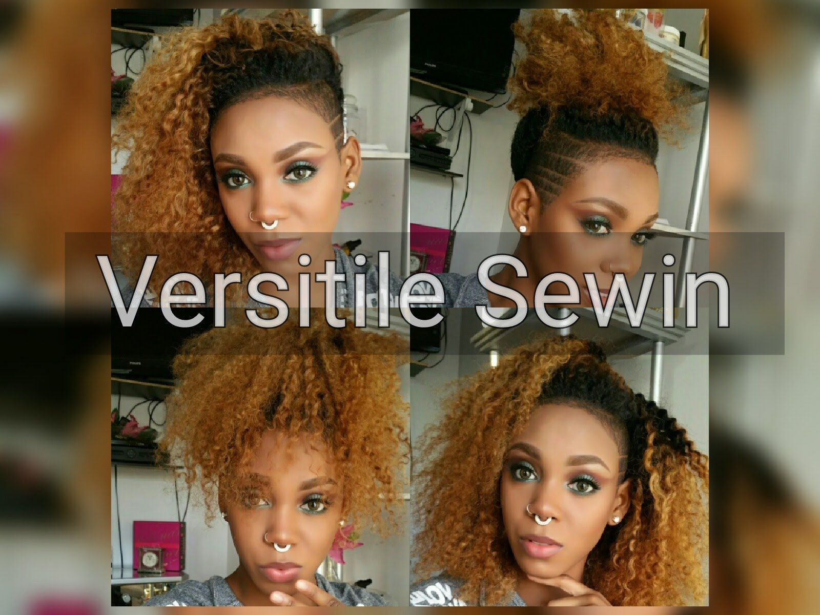 sew in weave for shaved sides   hair styling ideas   shaved