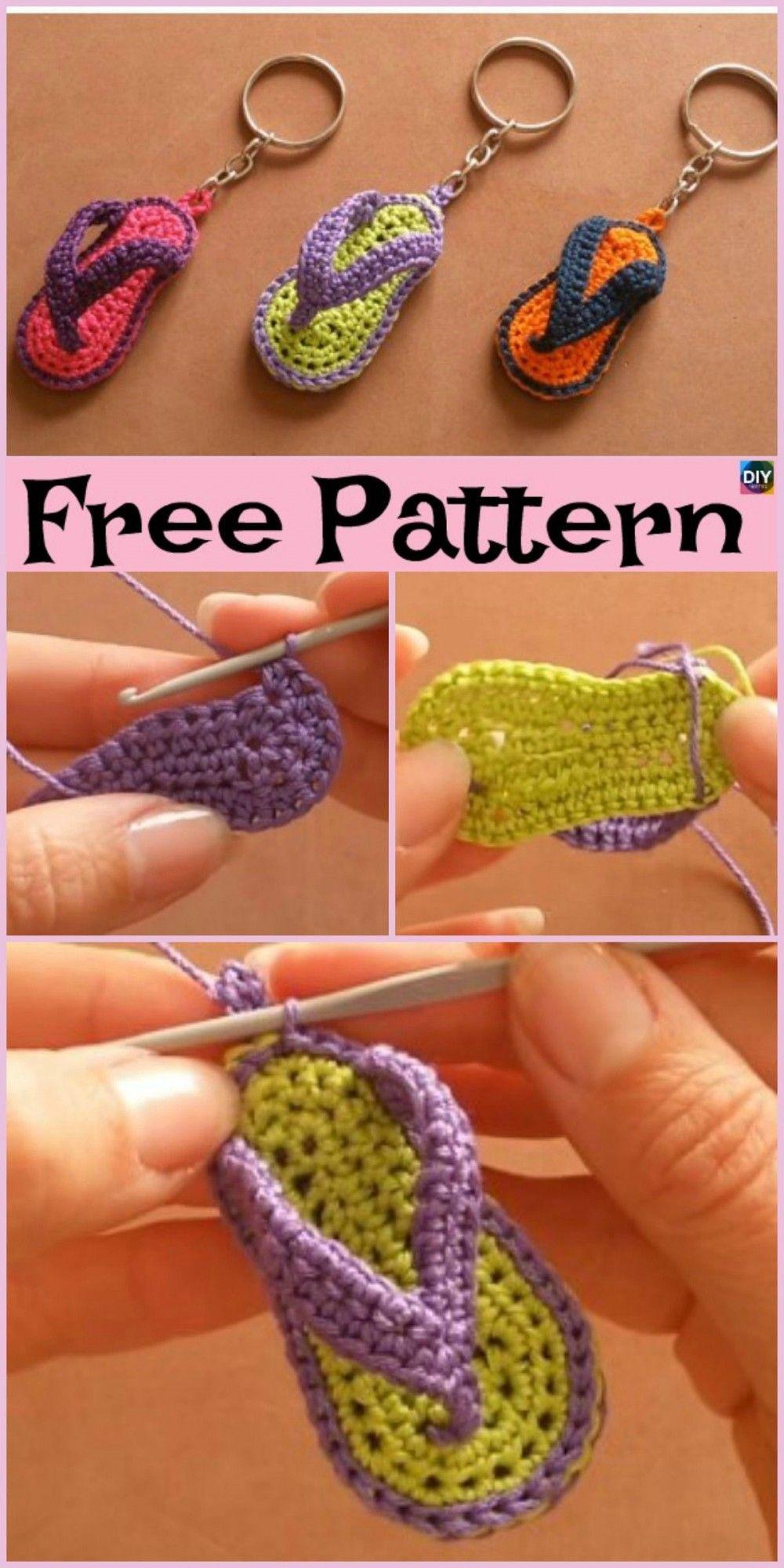 Adorable Porte Cles Slipper Crochet Modeles Gratuits Video