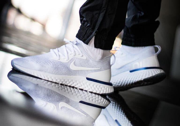 Nike Epic React Flyknit White Racer Blue AQ0067-100 (2)  536a0babc
