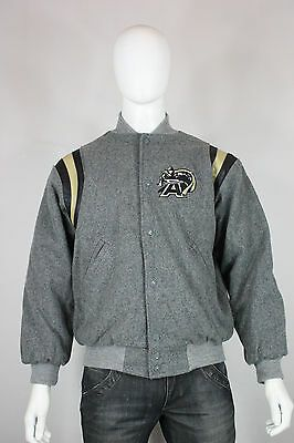 Army leather wool varsity jacket M new maverick letterman gray black  #fashion #clothing #shoes #accessories #mensclothing #coatsjackets (ebay link) #varsityjacketoutfit