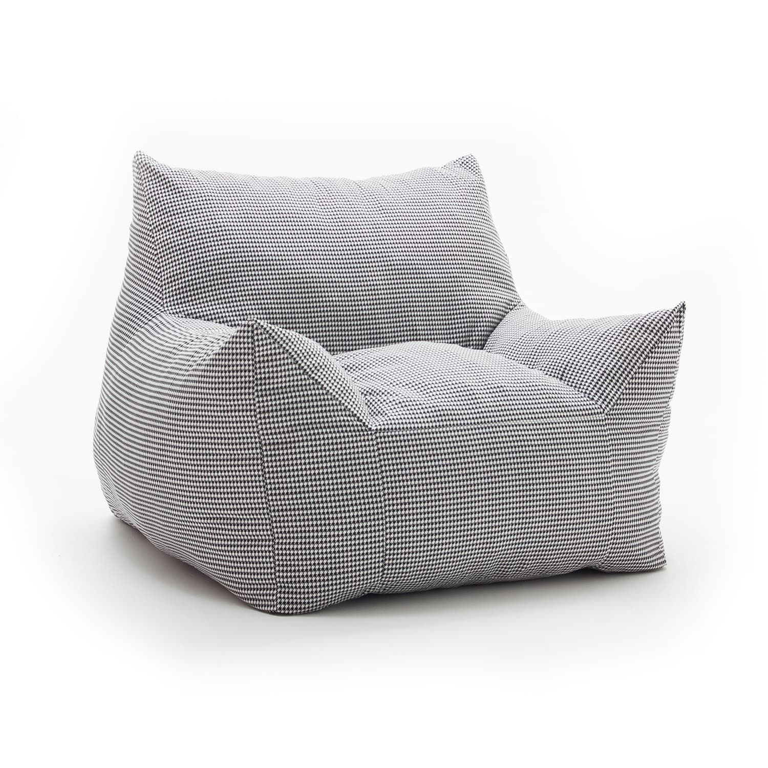 Fufsack Memory Foam Imperial Houndstooth Black And White Bean Bag