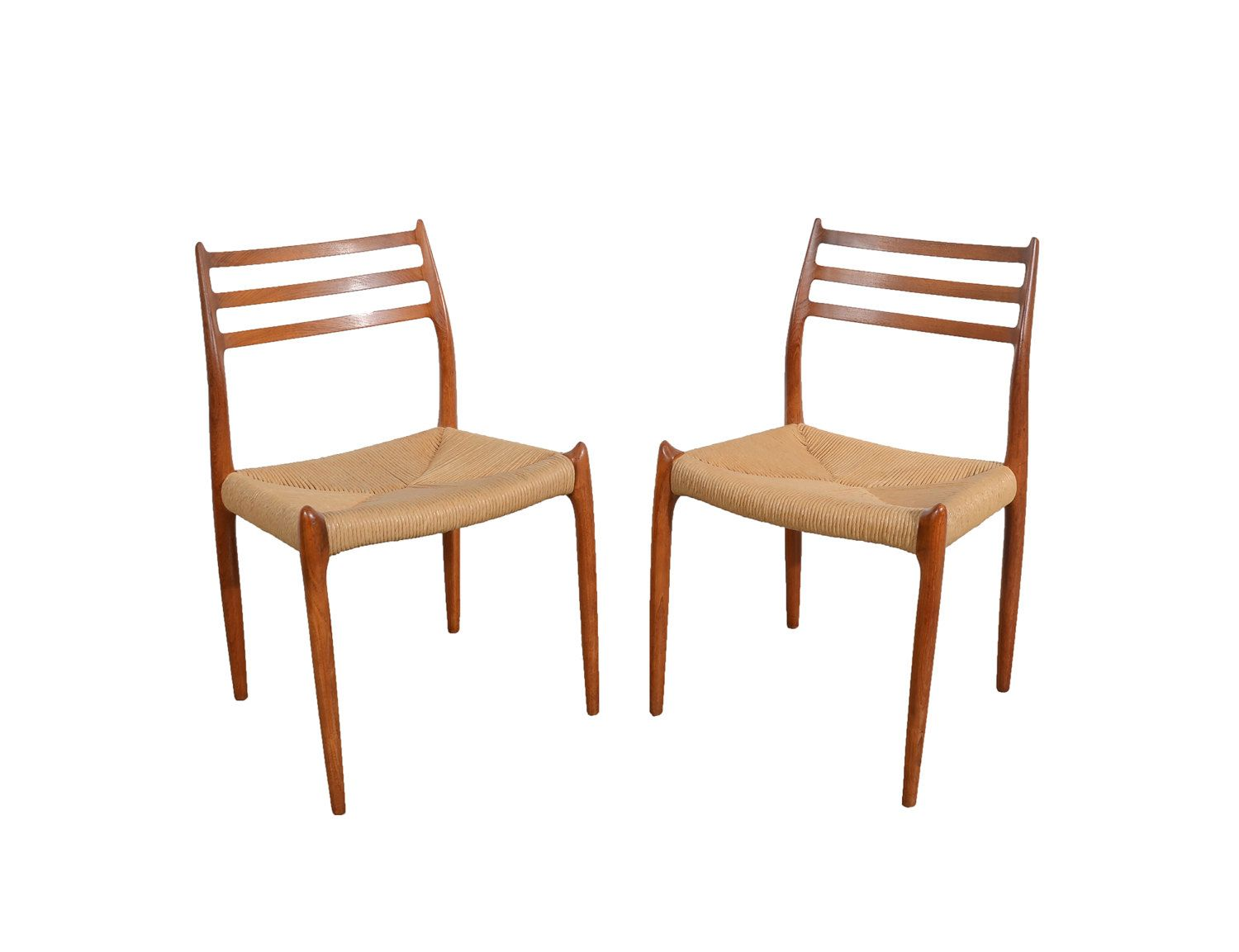 J.L. Moller Dining Chairs Model #78 Teak Dining Chairs by ...