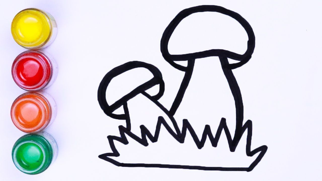 Menggambar Dan Mewarnai Jamur