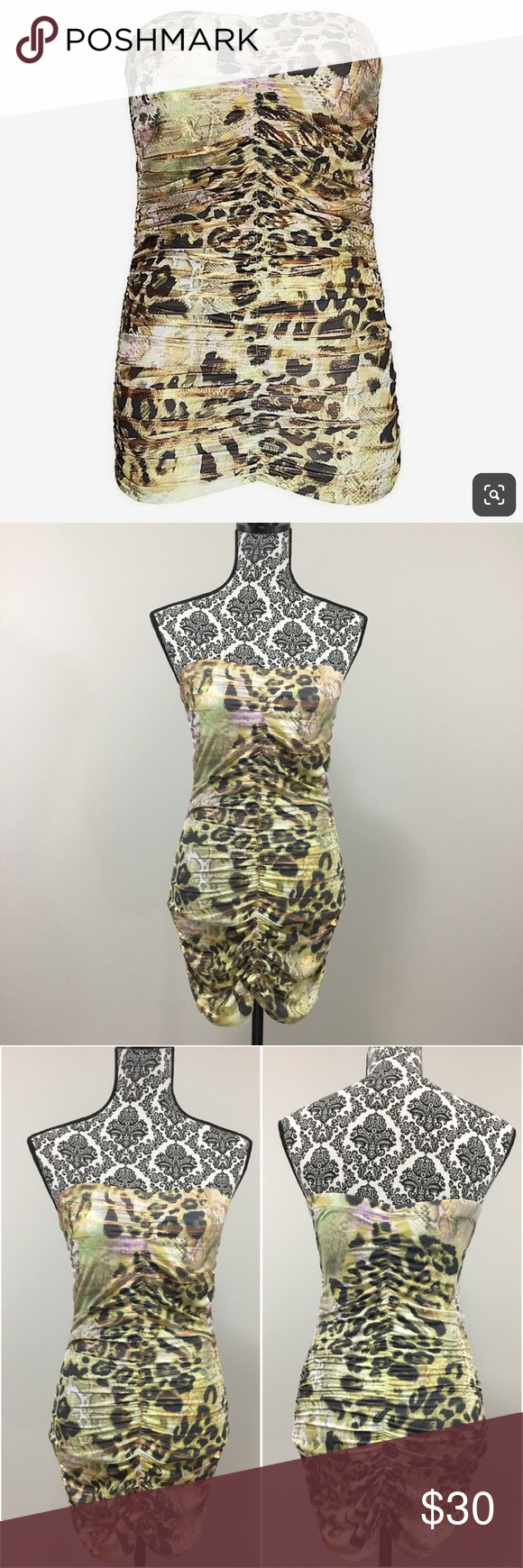 c6f786732121 Daytrip Snakeskin & Cheetah Print Tube Top/Dress M SNAKESKIN PATTERN  STRAPLESS TUBE TOP/ BODYCON MINI DRESS FROM BUCKLE! Wear it as a tube top  or a sexy ...
