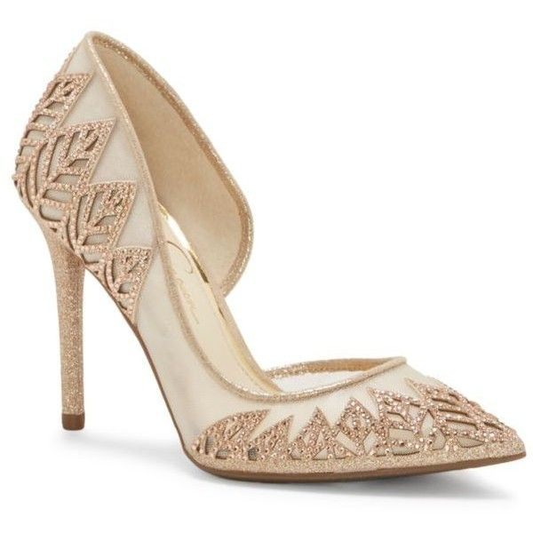3d9958e8074 Jessica Simpson Leaf Stone High Heel Pump ( 98) ❤ liked on Polyvore  featuring shoes
