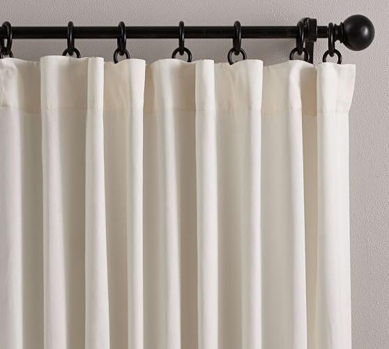 Cameron Cotton Pole Pocket Curtain Living Room Drapes Curtains