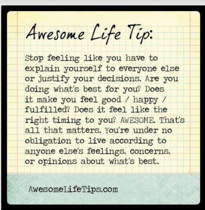Awesome Positive Life Quotes: Awesome Life Tip: