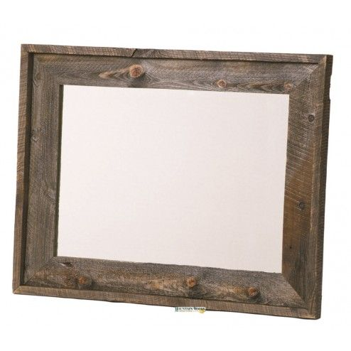 Rustic Mirror Diy Looks Like A Hobby Lobby Frame For Powder Room