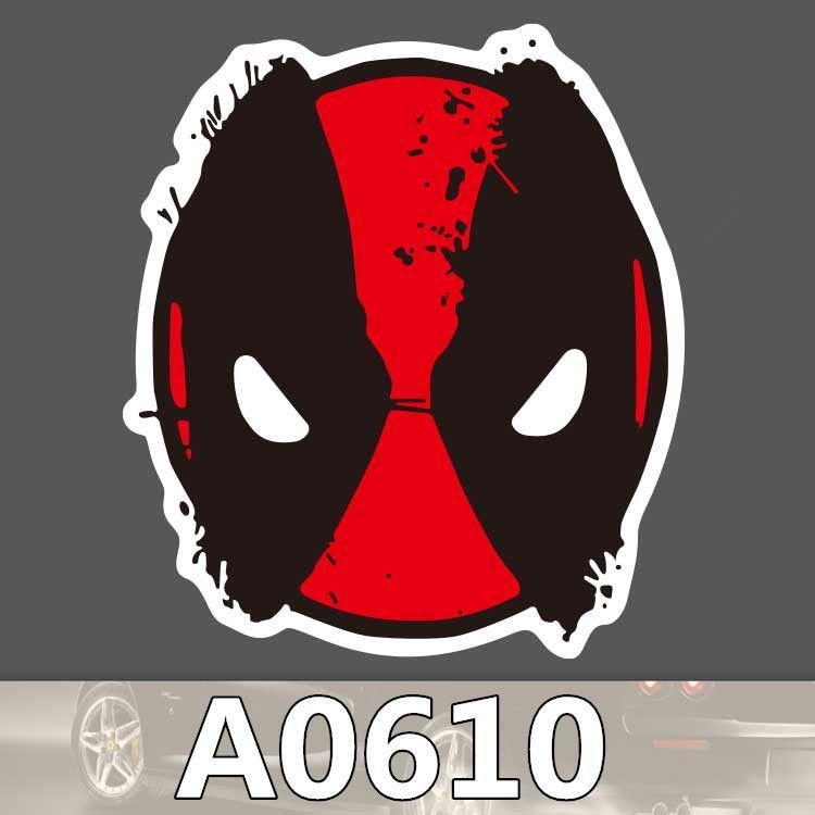 Bevle A0610 Deadpool Car Styling Waterproof Sticker for Cars Laptop Luggage Skateboard Graffiti Cartoon Notebook Stickers