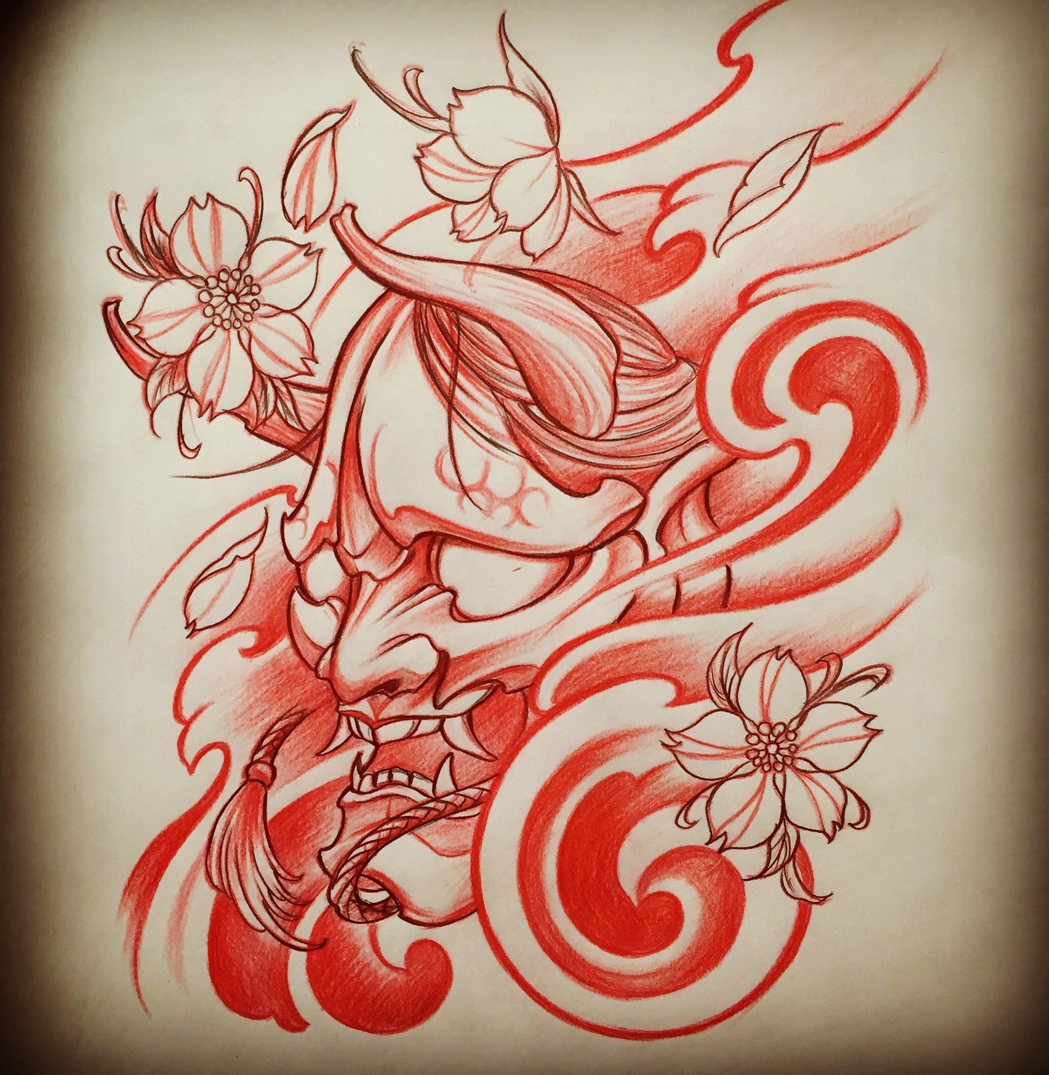 Tattoo Designs Japanese: Amsterdam TATTOO 1825 KIMIHITO Hannya Mask Japanese Style