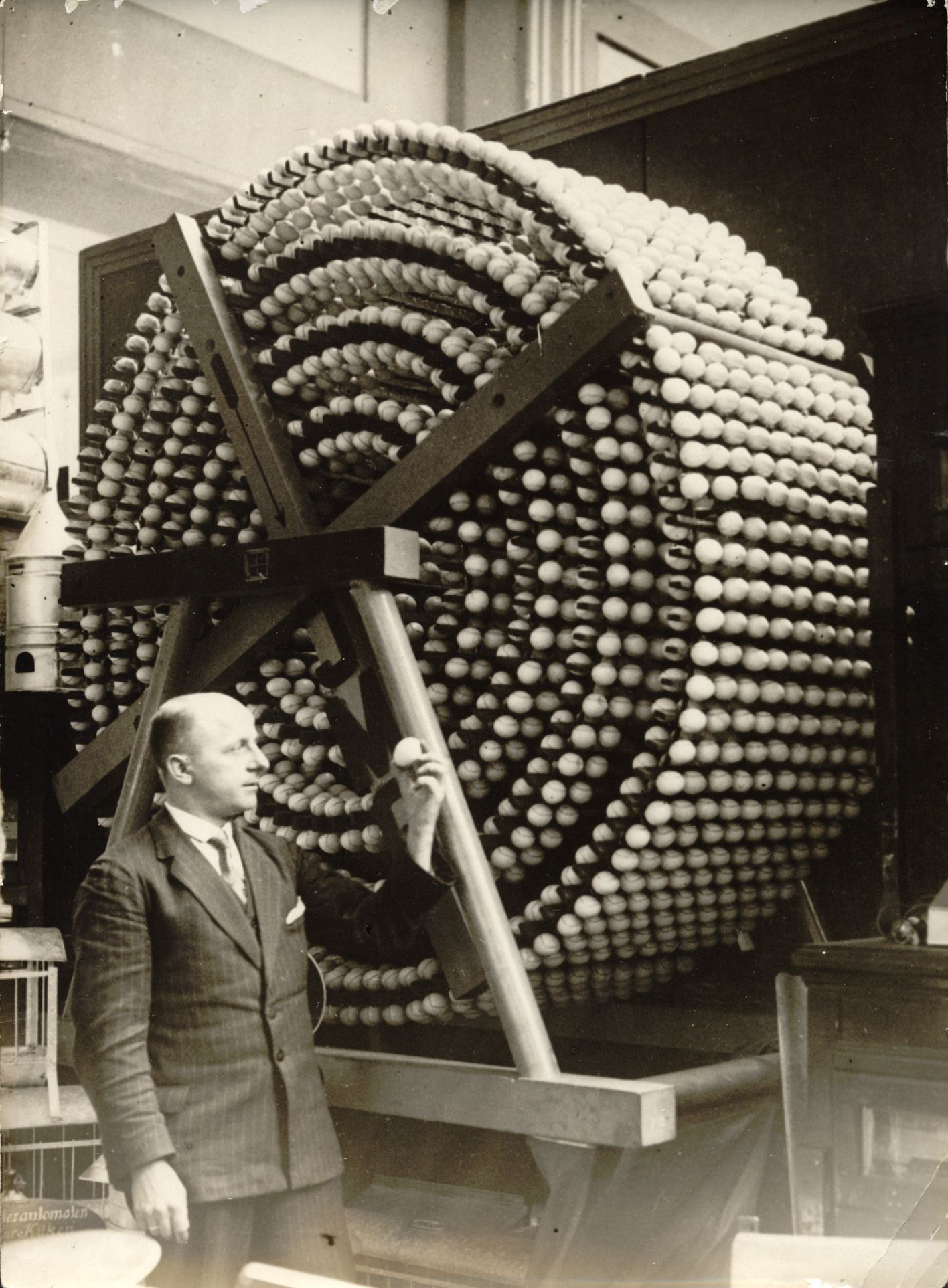 1930:   Container for keeping 5,000 fresh eggs for more than a year