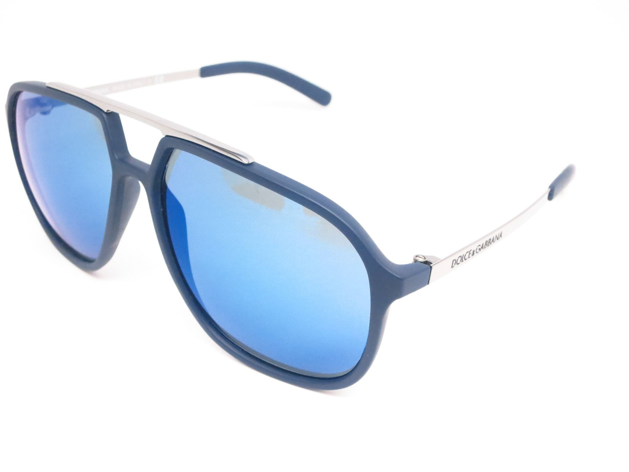ed7164b23ca6 ... Eye Heart Shades. Dolce   Gabbana DG 6088 2650 55 Blue Rubber Sunglasses