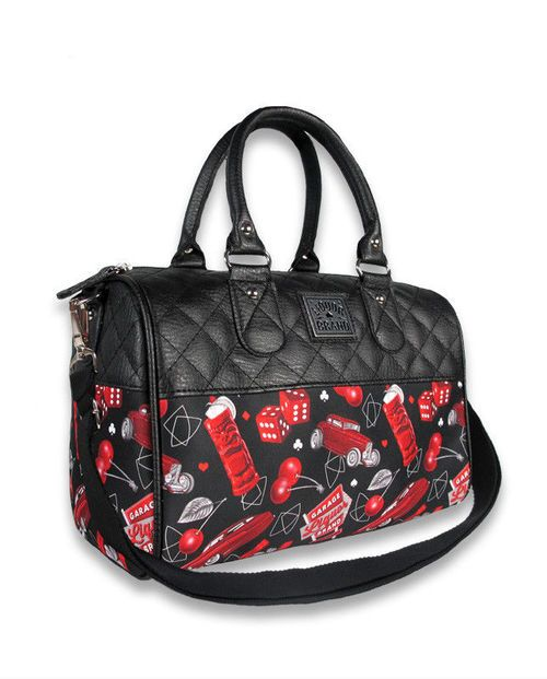 Liquore Brand Cherry Garage Die Car Adult Womens Handbag
