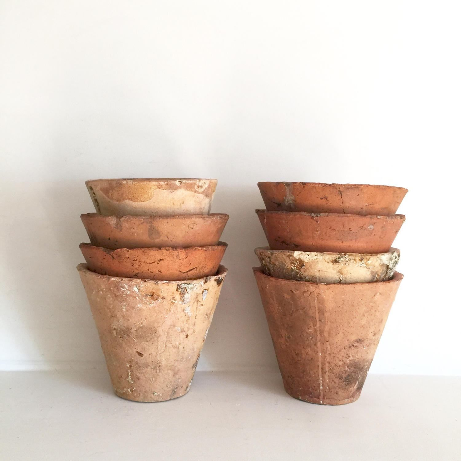 French Resin Pots Antique French Pots Small Terracotta Pots Rustic Pots French Garden Pots Earthe Antique Terra Cotta Pots French Pot French Antiques