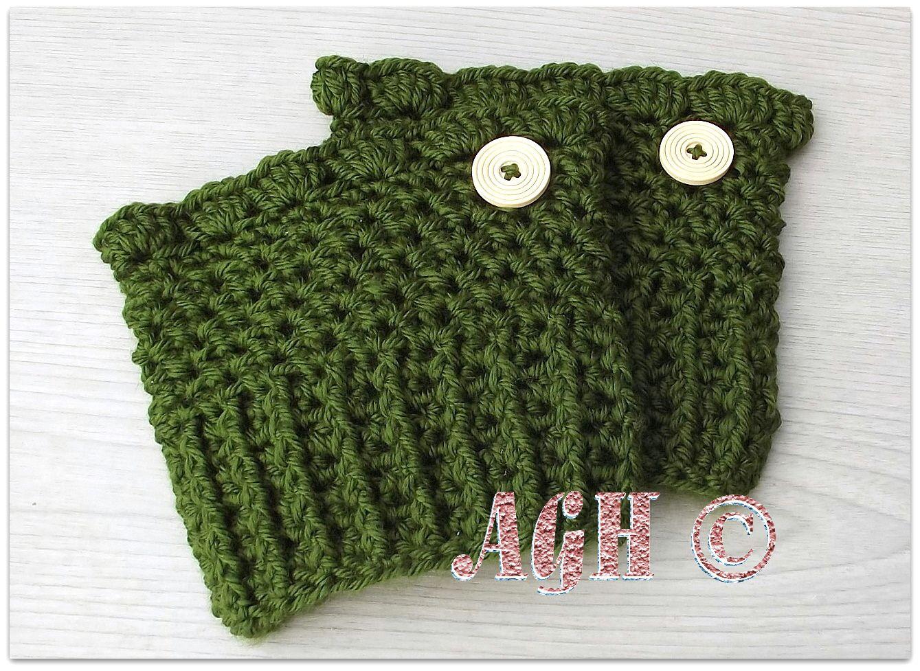 dk grn cuffsbc.jpg | diy crochet | Pinterest | Adornos