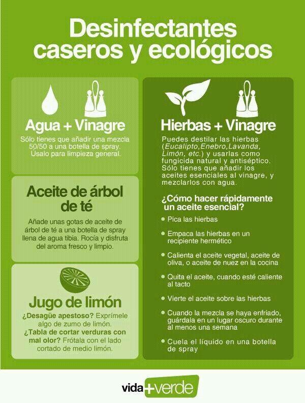 Desinfectantes Naturales y/o #Detergentes #Naturales | Varios ...
