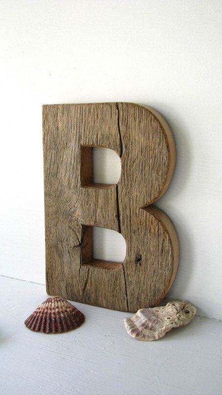 Rustic Barn Wood Letter B Painted By Secondnaturewoodwork On Etsy Barn Wood Crafts Wood Letters Barn Wood