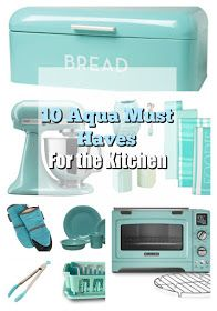One Thrifty Chick: 10 Kitchen Items every AQUA lover needs to own