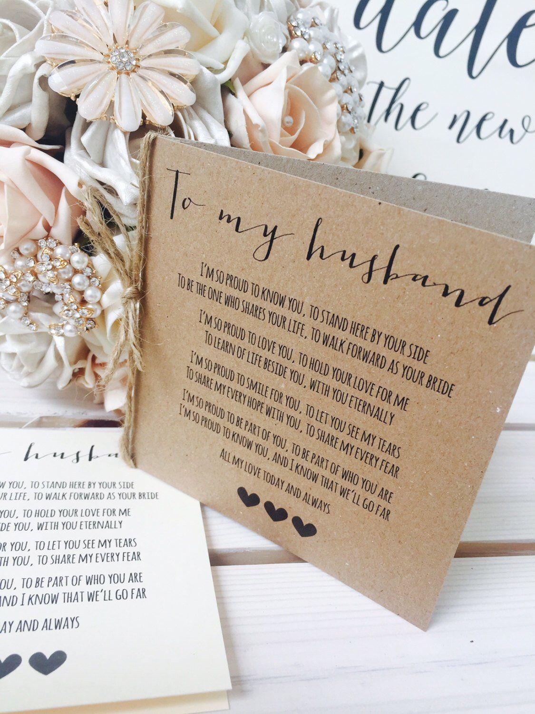 vintagerustic 'to my husband' wedding day poem  etsy