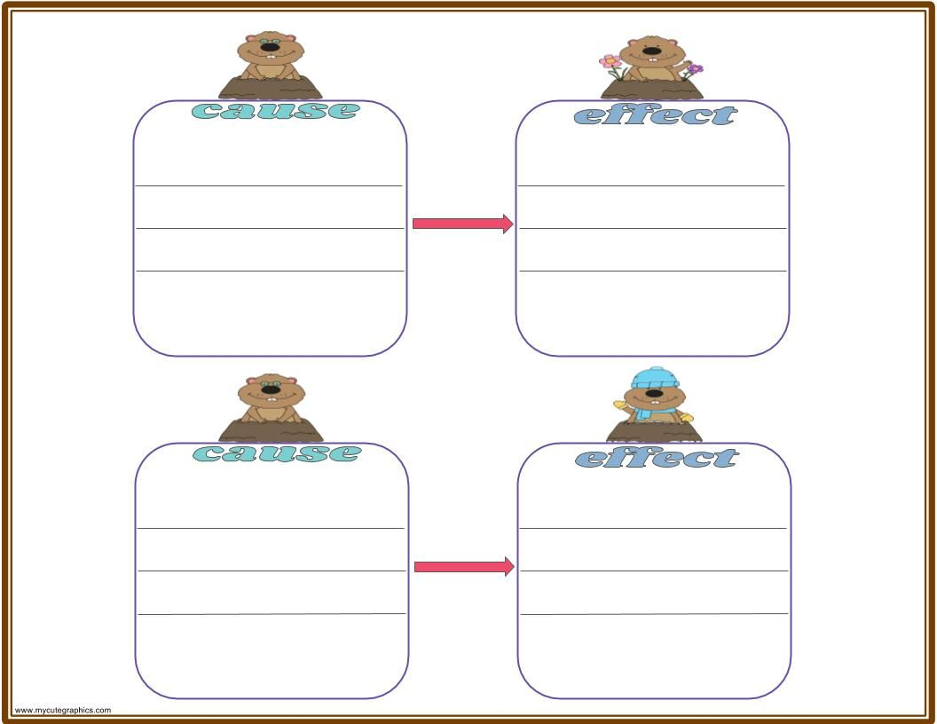 Grounghog day graphic organizers groundhog day kwl chart groundhog day cause and effect chart groundhog day venn diagram pooptronica Image collections