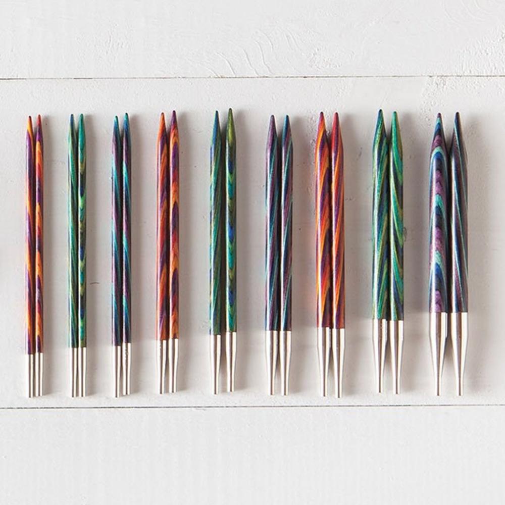 1 Set Knitting Tools Sets Mixed Color 18 Pairs Bamboo Knitting Needles for Weave