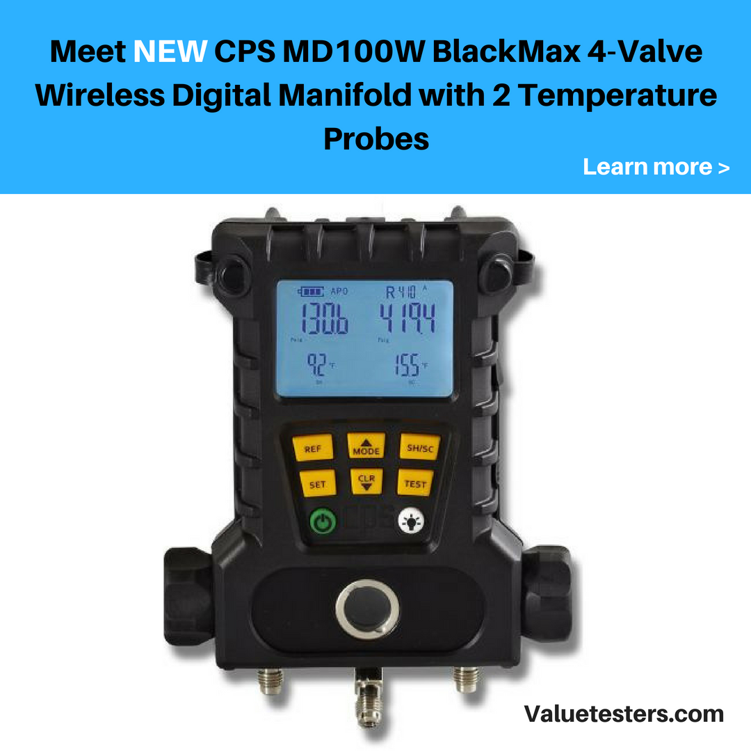 Cps Md100w Blackmax 4 Valve Wireless Digital Manifold With 2