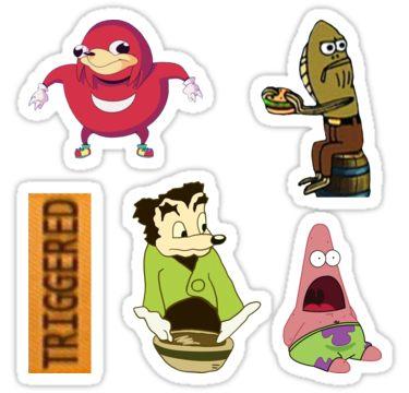 Meme Sticker Bundle Sticker Products Meme Stickers Memes Stickers
