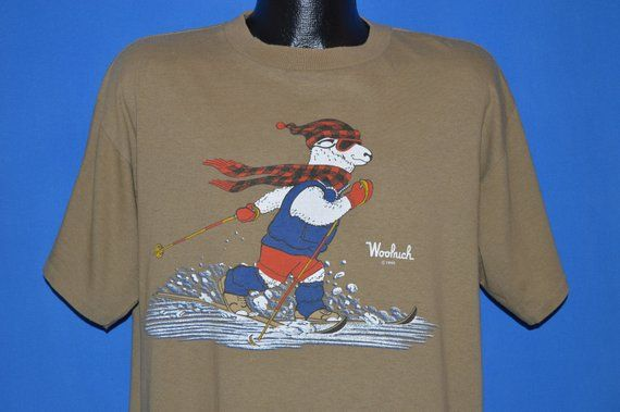 2063bcf4 80s Woolrich Sheep Cross Country Ski t-shirt Large | Products ...