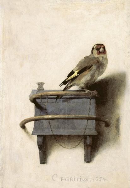 Carel Fabritius: The Goldfinch, 1654.  © 2017 McGaw Graphics, Inc. About the Artist Carel Pietersz. Fab...