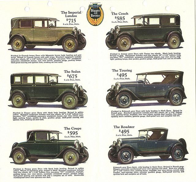 Car Price List Circa 1930 Chevrolet Dealership Car Ads Car Prices