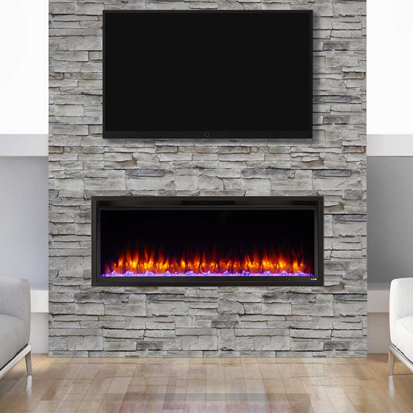Simplifire Allusion Platinum 50 Linear Electric Fireplace Sf