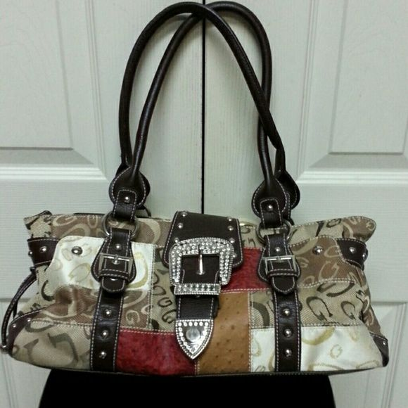 Purse Gg Ing Tan Brown Accents Jewels Lots Of Pockets Medium And Small Bags Shoulder