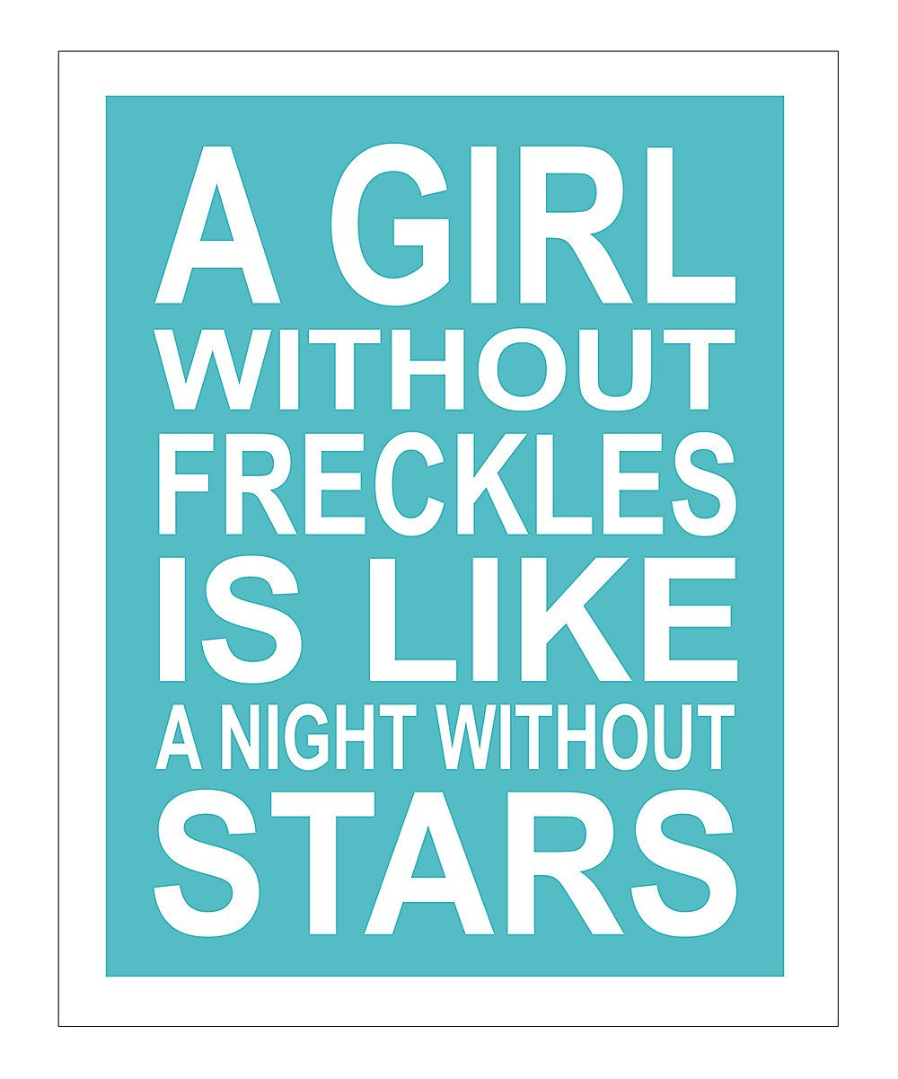 yay for freckles!