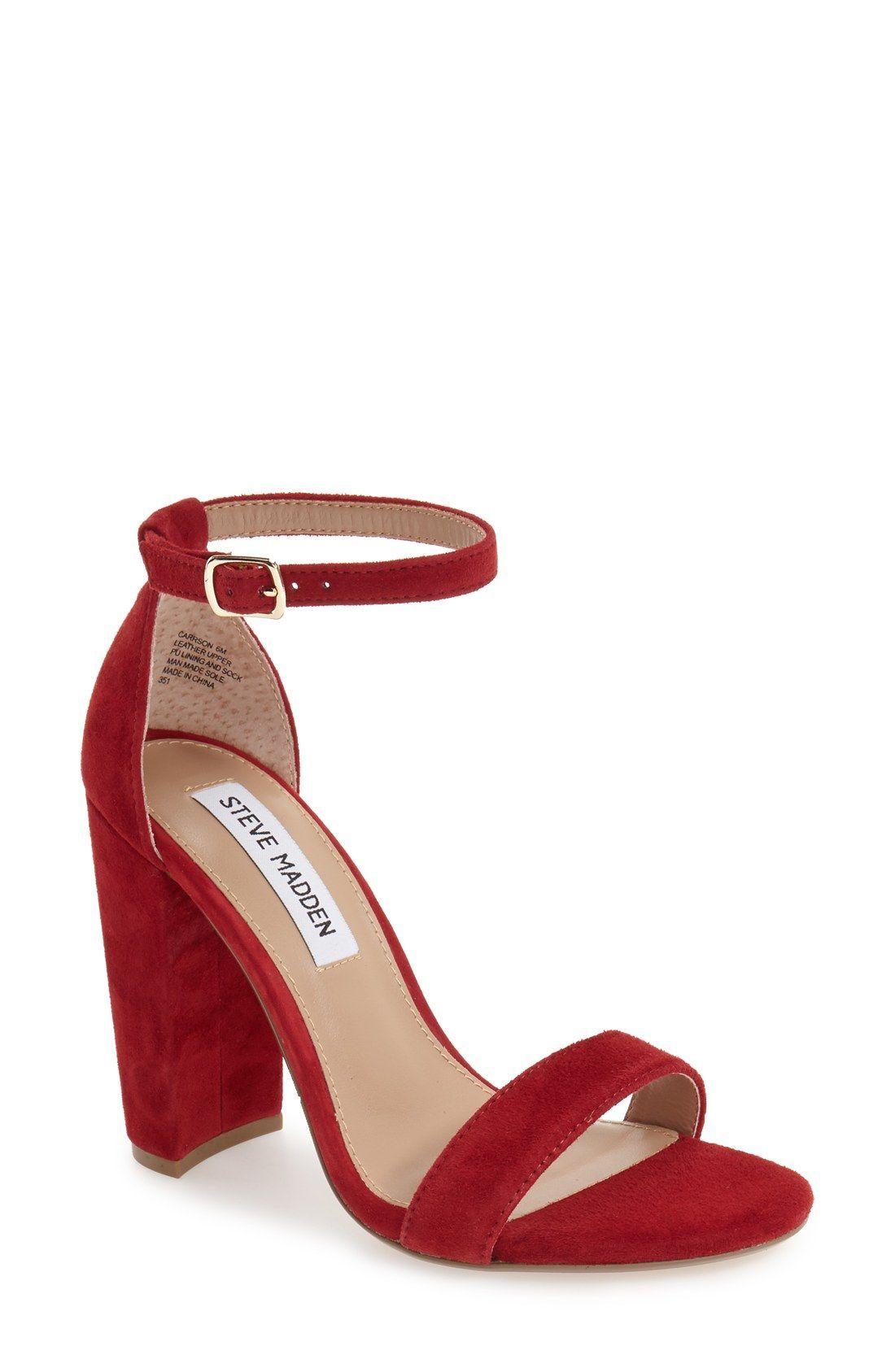 31759c27e3 CARRION by Steve Madden Block Heel and Ankle Strap. Velvet High Heel, Comes  in… #velvetshoeshighheels