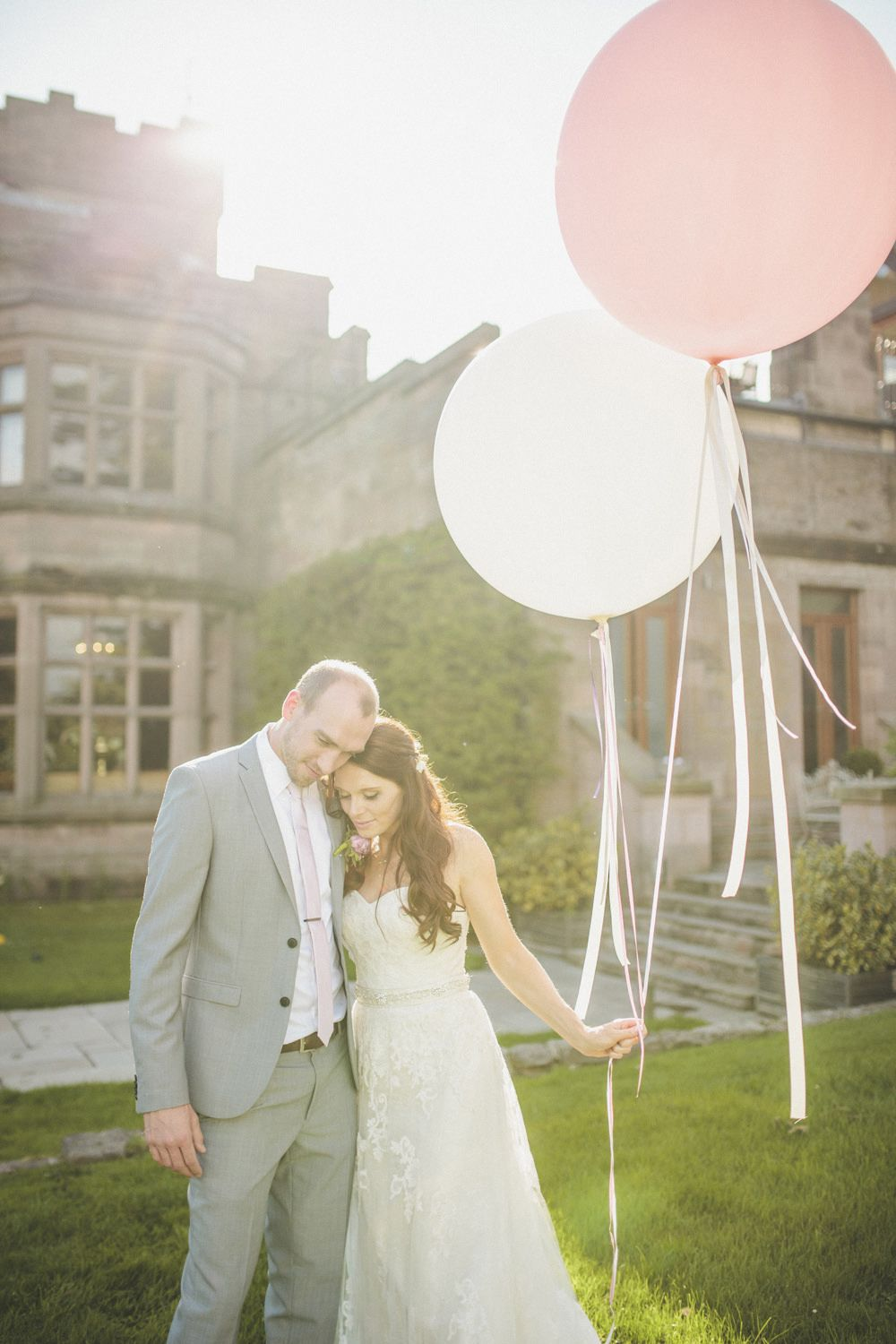 Classic Wedding At Ellingham Hall In Northumberland With Bride Madeline Gardner Dress And Bridesmaids Different Pastel Coloured Dresses Groom