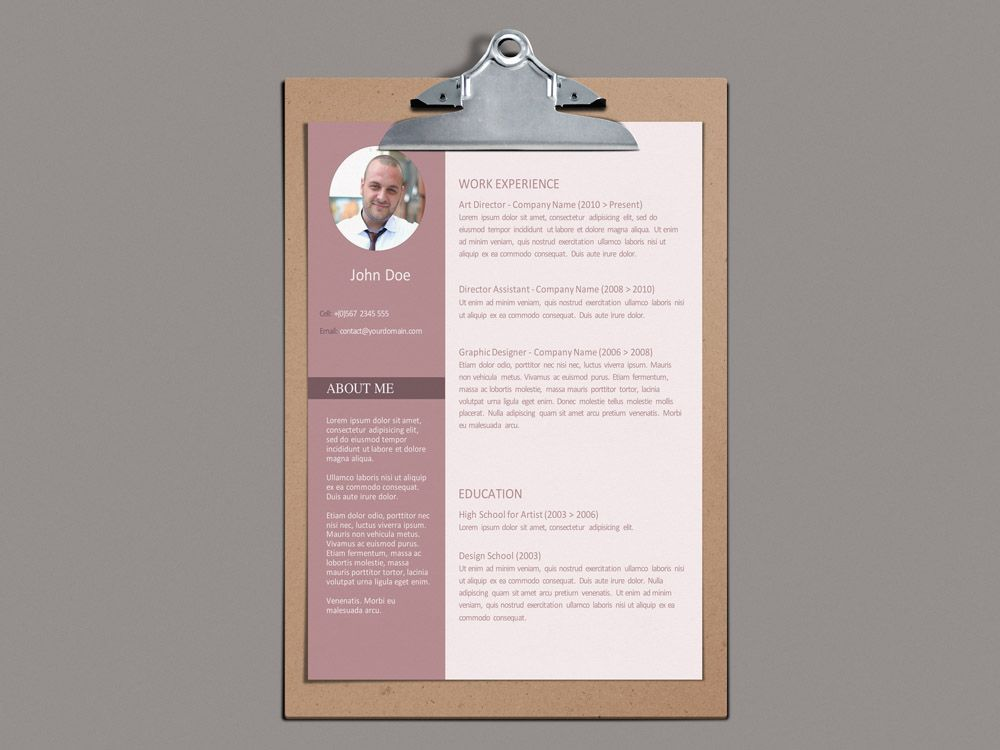 Free Modern Word Resume Template Free Resume Templates Pinterest